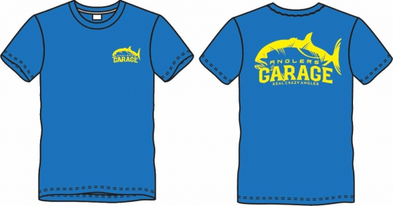 Exclusive Anglers Garage Cotton T-Shirt Blue